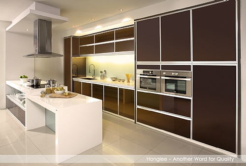 New Style Aluminium Kitchen Furniture Pakistan Alco